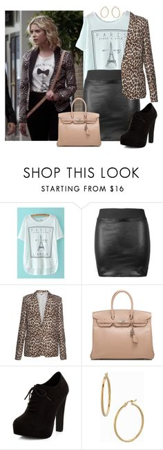 """""""Hanna Marin Spin Off"""" by guest114 ❤ liked on Polyvore featuring STELLA McCARTNEY, Hermès, New Look, Bony Levy, PrettyLittleLiars, pll, hannamarin and Spinoff"""