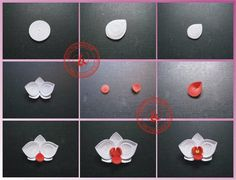 How to make a flower petal from a tight coil - Tutorial - by: ChauKhangshop - FB
