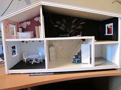 Gammalt bord i ny/gammal tappning - Hemma hos Happy1 Corner Desk, Vanity, Loft, Mirror, Furniture, Home Decor, Ska, Corner Table, Dressing Tables
