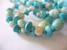 Long Vintage Beaded Necklace Flapper Style Robin's by tubbytabby, $16.00