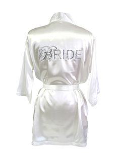 Hey, I found this really awesome Etsy listing at http://www.etsy.com/listing/158645515/double-bling-satin-bride-robe-script