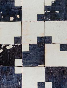 Squared ceramic wall tile