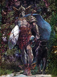 Illustration by Barry Windsor-Smith from the cover of Pathways to Fantasy #1, published by Pacific Comics, July 1984.