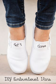 d2778eb7a48 Make a pair of DIY Embroidered Slip-Ons! Diy Embroidered Vans