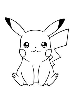 Disney Character Drawings, Disney Drawings Sketches, Art Drawings Sketches Simple, Cute Cartoon Drawings, All Cartoon Images, Easy Disney Drawings, Pikachu Drawing, Pokemon Sketch, Pikachu Art