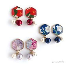Diy Resin Earrings, Resin Jewlery, Shrink Plastic Jewelry, Fabric Earrings, Handmade Accessories, Handmade Jewelry, Diy Jewelry Projects, Terracotta Jewellery, Resin Crafts