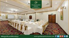 The Golden Palms Hotel & Spa, Bengaluru offers you the perfect venue for your corporate sessions.   Visit www.goldenpalmshotel.com for more details. #MagnificentMondays