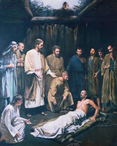 Christ Healing the Palsied Man by David Lindsley