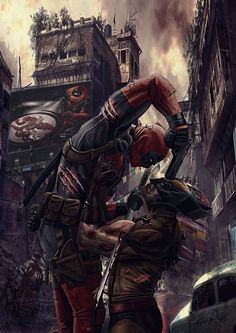 Marvel,Вселенная Марвел,фэндомы,Deadpool,Дэдпул, Уэйд Уилсон,Wolverine,Росомаха, Логан, Джеймс Хоулетт,art,арт,красивые картинки