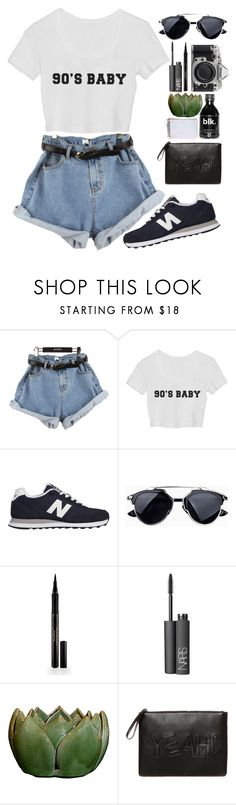 """90's BABY"" by destiniet ❤ liked on Polyvore featuring StyleNanda, New Balance, Elizabeth Arden, NARS Cosmetics, Nikon and Pull&Bear"