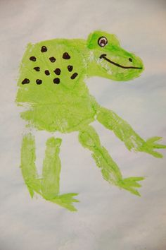 our handprint frog