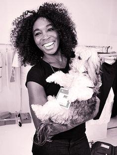 MVenus Williams and dog!