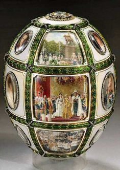 "Faberge Egg 1911 ""15th Anniversary Egg"". Currently in Russia. Gift to Alexandra from Nicholas II."