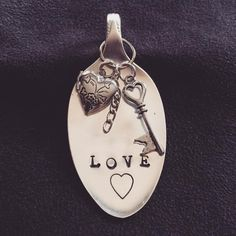 """Love"" with locket charm ~ Pendant by @whackadoodlesandwanderlust visit on instagram or facebook"