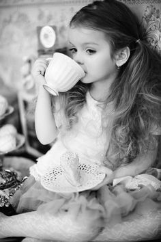 I have actually been drinking tea since before her. My mother used to put it in my sippy cup. (Milky of course ;) )