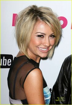 Chelsea Kane: Nylon Night Out with Stephen!: Photo Chelsea Kane arrive in style at the Nylon magazine May Young Hollywood issue celebration held at Bardot on Wednesday (May in Hollywood, Calif. Chelsea Kane, Stacked Bob Hairstyles, Cool Hairstyles, Layered Hairstyle, Hairstyle Short, Hairstyle Ideas, Cut My Hair, New Hair, Short Hair Cuts