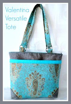 Valentina Versatile Tote Bag - PDF Sewing Pattern + Two Great Pattern Marking Tips from CloBird Designs + Threads Magazine