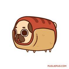 A little pug with big dreams Puglie es la creación