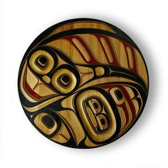 Phil Gray, Red Cedar Halibut Panel, Northwest Coast Native Art