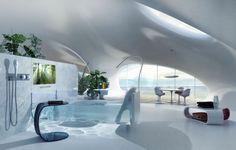 modernes bad mit design badewanne