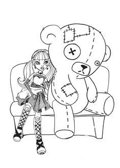 Dibujos para imprimir Monster High 18  Seccin de dibujos para