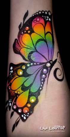Face Painting Leicester to London Adult Face Painting, Leg Painting, Belly Painting, Painting Tattoo, Stone Painting, Watercolor Tattoo, Butterfly Face Paint, Butterfly Painting, Face Paint Makeup