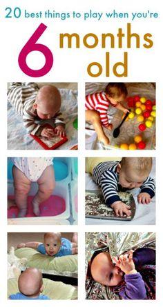 20 fun baby play ideas for 6 month olds ...