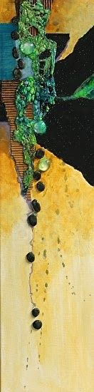 "CAROL NELSON FINE ART BLOG: Abstract Mixed Media Art Painting ""Dream"" by Colorado Mixed Media Abstract Artist Carol Nelson"