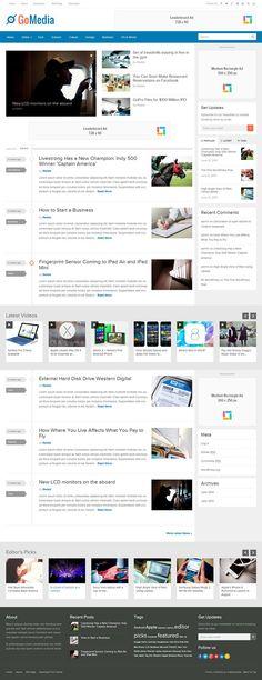 GoMedia Responsive #WordPress News/Magazine Theme http://www.themesandmods.com/premium-wordpress-themes/gomedia/
