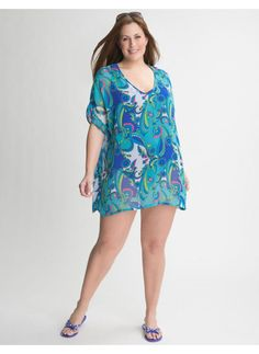 Plus size tube dress cover up