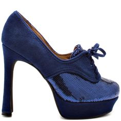 $95  This would look cute with a pinup style dress  Lady Jam - Navy main view