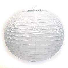 White Paper Ball Lantern (Bulk 12 pack) - Choose from 6 sizes from $48