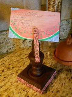 dreamingincolor: Recipe Card Holder- mother's day gift from the scouts?