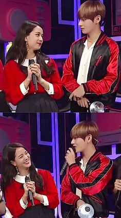 Kim Taehyung is the CEO's eldest so. Bts Blackpink, Jungkook And Jin, Bts Taehyung, Kpop Couples, Cute Couples, Jikook, K Pop, Bts Girl, Blackpink Memes