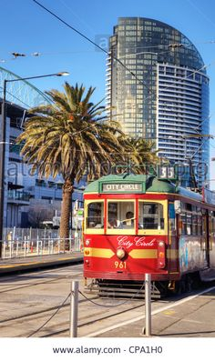 Download this stock image: The City Circle Tram, a free ride around the city of Melbourne. - CPA1H0 from Alamy's library of millions of high resolution stock photos, illustrations and vectors.