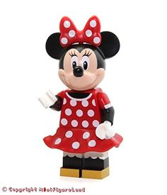 LEGO Disney MiniFigure - Minnie Mouse (Red Polka Dot Dress) From Castle Set 71040
