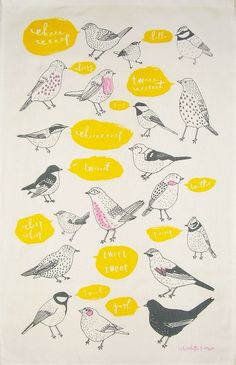 Tweet Tweet Tea Towel