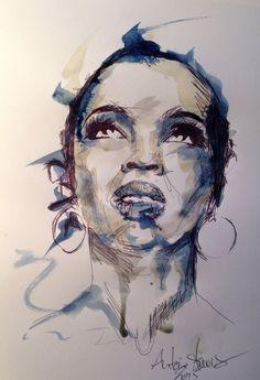 Illustration portrait Antoine stevens lauryn Hill