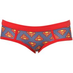 Supergirl Logo Boypant ($6.18) ❤ liked on Polyvore featuring intimates, panties, underwear, lingerie, undies, girl boxers & shorties, underwear boxers, underwear panties and underwear lingerie
