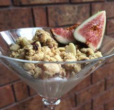 Greek Yogurt with Cranberry & Almond Granola and Figs