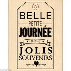 Tampon Border line - Belle petite journée 10 x 13 cm - Tampon bois - Creavea 13th Birthday Invitations, Quilting Templates, Photo Album Scrapbooking, Handmade Tags, Wood Stamp, Printable Labels, Printables, Tampons, Papers Co
