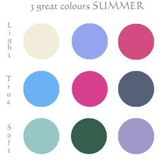 3 best colors for summer complexion palette SUMMERS pinterest #nebbsie