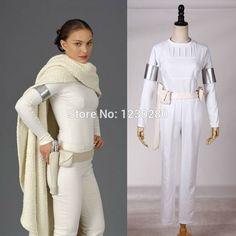 Star Wars Cosplay Episode 2:Attack of the Clones Senator Padme Amidala White Cosplay Costume For Women