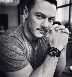 luuuuuke-evans:  styleanderror: Our @thereallukevans in unreleased black ceramic @bulgariofficial Octo. Doppio-chic simple masculinity all round.