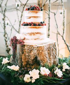 Witney Carson's naked wedding cake