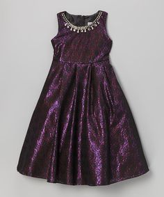 Look at this #zulilyfind! Black & Fuchsia Lace Dress - Toddler & Girls #zulilyfinds