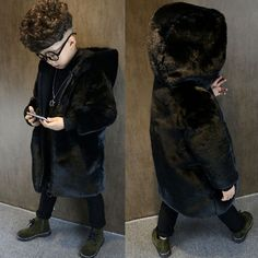 2017 Winter Children Clothes Fur Coat Boy Warm Brand Jacket Coat High Quality #Affiliate