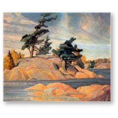 "Franklin Carmichael (The Group of Seven) - ""Island - Georgian Bay"""