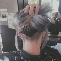 Pin on hair. 31 Trendy Undercut Styles for Bold Women . V Shaped 360 Undercut by . Pin on Hair Hair Hair. Hair Day, New Hair, Medium Hair Styles, Curly Hair Styles, Undercut Hair Designs, Undercut Hairstyles Women, Hair Tattoos, Long Hair Cuts, Shaved Hair