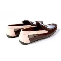 Buy Brown Driving shoe with contrast@INR1639 #DrivingShoes #Moccasins #MenShoes #BrownShoes
